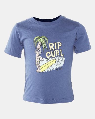 Rip Curl Boys Palm Beats Tee Blue