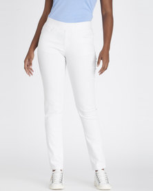 Contempo Pull Up Jeggings White