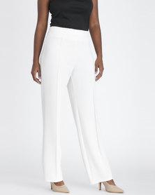 Contempo Fashion Pants Ivory