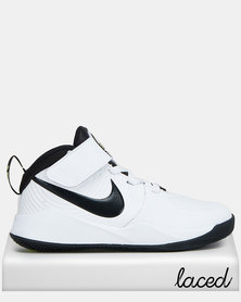 Nike Boys Team Hustle D9 Sneakers White