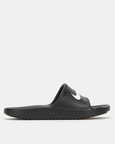 separation shoes f33aa 93b78 Nike Boys Kawa Shower Sandals Black