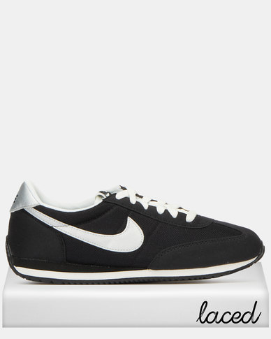 Nike Oceania Textile Sneakers Black/Metallic Silver-Summit White