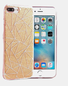 Naked Eyewear Glitter Geometric iPhone 7 Cover (Gold)