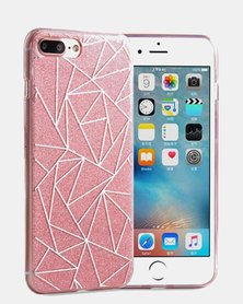 Naked Eyewear Glitter Geometric iPhone 7 Cover (Pink)