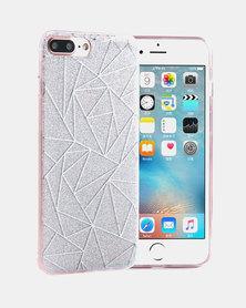 Naked Eyewear Glitter Geometric iPhone 7 Cover (Silver)
