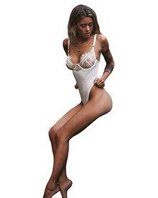 I Love Lingerie, Julieta Bodysuit White