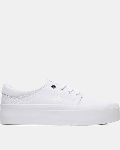 top-rated discount 60% clearance big collection DC Trase Platform TX Sneakers White/Black