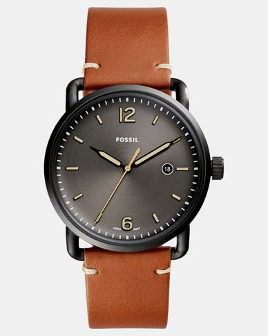 Fossil The Commuter 3H Date Watch Brown