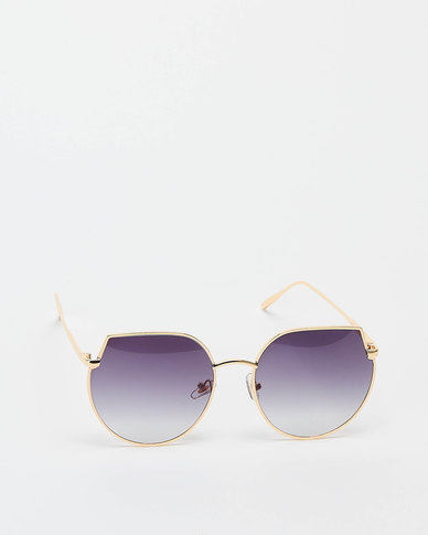 You & I Cut Out Cateye Sunglasses Light Gold