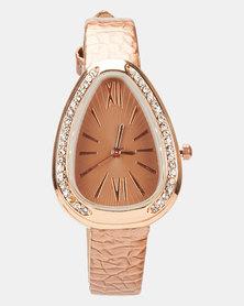 You & I Ladies Fashion Watch Metallic Bronze