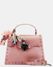 You & I Rose Silicone Top Handle Crossbody Bag Pink