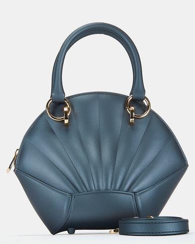You & I Silicone Shell Top Handle Crossbody Bag Grey