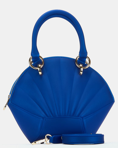 You & I Silicone Shell Top Handle Crossbody Bag Blue
