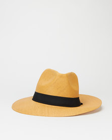 You & I Natural Fibre Panama Hat Dark Natural