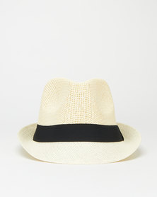 You & I Natural Fiber Trilby Hat Cream