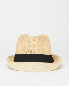 You & I Dark Natural Fiber Trilby Hat Brown