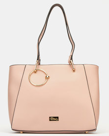 Miss Black Rizza Shopper Bag Pink