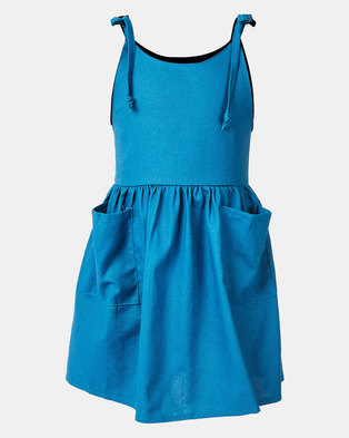 Utopia Girls Layla Basic Top Tie Dress Blue