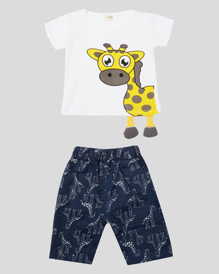 Utopia Boys Giraffe Clothing Set Multi