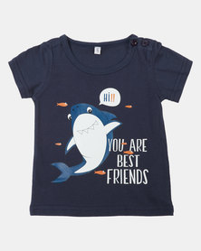 Utopia Boys Best Friends Graphic Tee Navy