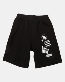 Utopia Boys Graphic Shorts Black