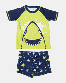 Utopia Boys Swim Set Navy/Lime