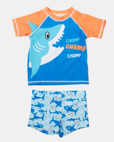 Utopia Boys Swim Set Blue/Orange