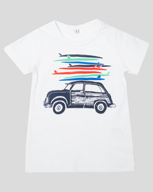 Utopia Boys Surfing Time Tee White