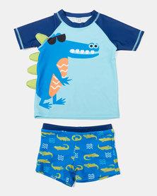 Utopia Boys Dino Swimset Blue