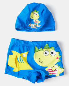 Utopia Boys Dino  Swim Trunk Set Multi