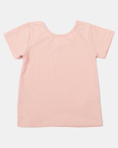Utopia Girls Basic Tie Top Pink