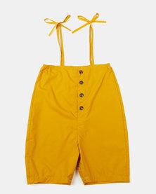Utopia Girls Kelly Dungaree Yellow