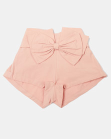 Utopia Girls Fashion Bow Shorts Pink