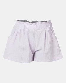 Utopia Girl Flare Shorts Purple
