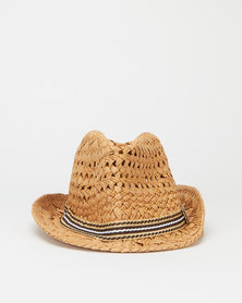 Utopia Kids Fadora Hat Tan