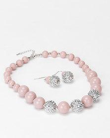 Queenspark Glitter & Plastic Ball Set Pink