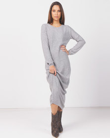 Kay & May J Patricia Cashmere Knitwear long Dress Grey