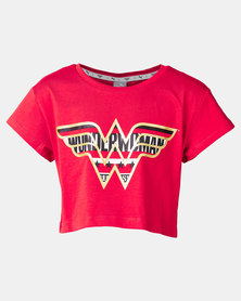 Puma Sportstyle Core Puma Ribbon Wonder Women Tee Red