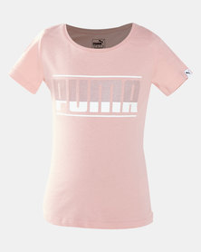 Puma Sportstyle Core Style Graphic Cotton Tee Peach Beige