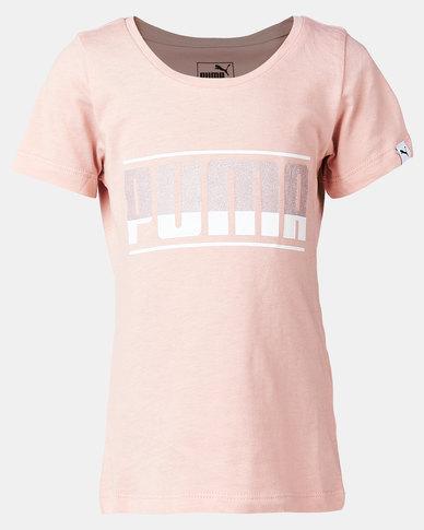 Puma Sportstyle Core Style Graphic Cotton Tee Peach/Beige