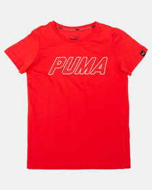 Puma Sportstyle Core Flame Scarlet Style Graphic Tee Red