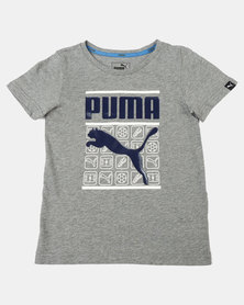 Puma Sportstyle Core Heather Style Medium Graphic Tee Grey