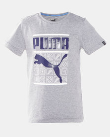 Puma Sportstyle Core Style Graphic Tee Grey Heather