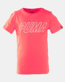 Puma Sportstyle Core Style Graphic Tee Flame Scarlet
