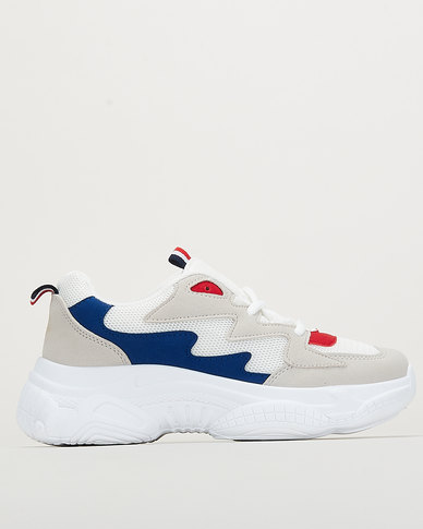 Jada Chunky Sneakers White/Blue/Red