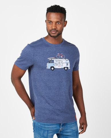 Vents Brull All I Need Kombi T-Shirt Indigo