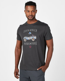 Vents Brull Landy Bakkie Bike T-Shirt Charcoal