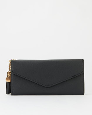 Utopia Envelope Tassel Purse Black
