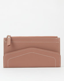 Utopia Zip Through Envelope Purse Mauve