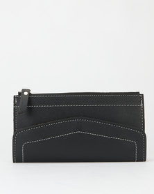 Utopia Zip Through Envelope Purse Black